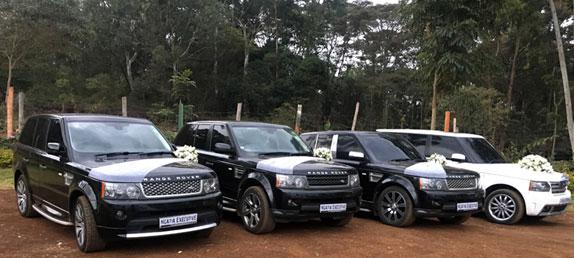 Ngatia executive cars limousines an executive car hire company we rangerover sport black wedding car junglespirit Gallery